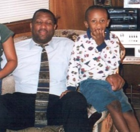 A younger Troy and his uncle, Boo