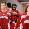 Devin Davis attends Indiana-Lamar game