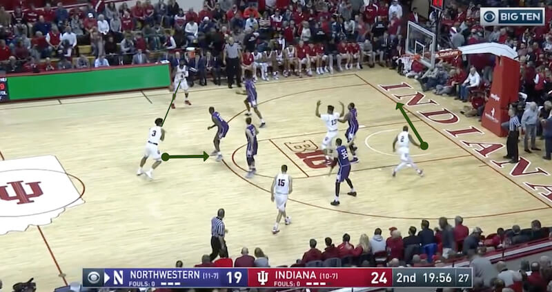 Indiana uses second-half surge to pull away from Northwestern