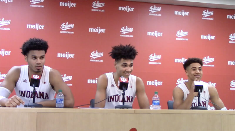 Video: IU players react to win over Nebraska