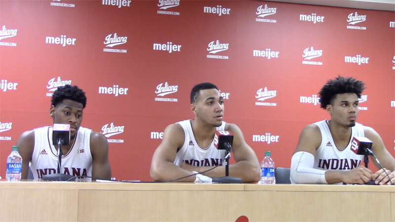 Video: IU players react to win over Penn State